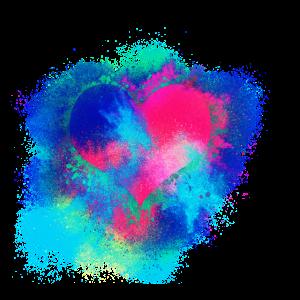 Herz rotes Herz farbenfroh