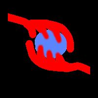 Kristallkugel Hand