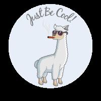Cooles Alpaca Lama Zigarre Sonnenbrille Hipster