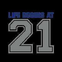 21 Jahre Leben beginnt