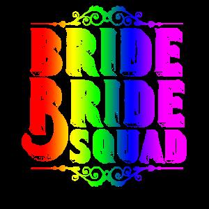 Braut JGA T-shirt gleichgeschlechtlich lesbisch