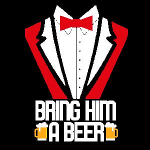 bringt ihm ein Bier Shirt JGA