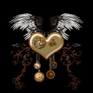 Atemberaubendes Steampunk-Herz