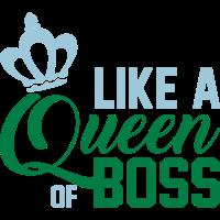 Wie eine Königin des Chefs