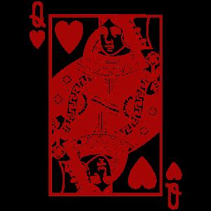 Herz Königin Rot