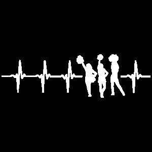 Lustiges Cheerleading Herzschlag-Hemd
