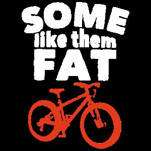Lustiges fettes Reifen-Fahrrad-Hemd