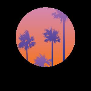Miami Vice - Palmen beim Sonnenuntergang