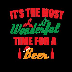 Bier Spruch Weihnachten lustig Humor Mann Geschenk