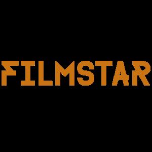 Filmstar Schriftzug Gold