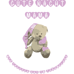 Gute Nacht Bärchen rosa Kinder schlafen träumen
