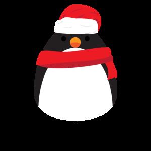 Pinguin Weihnachten mit Zipfelmütze