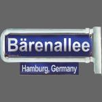Bärenallee | altes Straßenschild | Hamburg