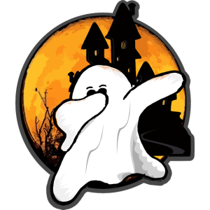Dabbing Ghost Shirt Funny Halloween Monsters