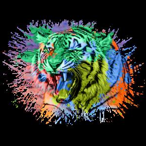 Tiger Regenbogen Bunt Tiere