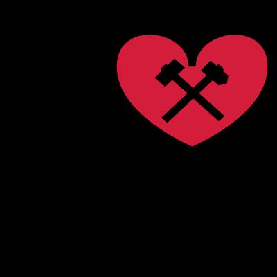 I ♥ RUHRPOTT mit Schlägel und Eisen  - I love Ruhrpott mit Schlägel und Eisen  - metropole ruhr,i love ruhrpott,i love ruhrgebiet,dortmund,Weltkulturerbe,Stadt Essen,Hammer und Schlägel,Glück Auf,Duisburg