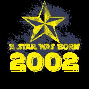2002 Geboren Star Geburtstag Geschenk