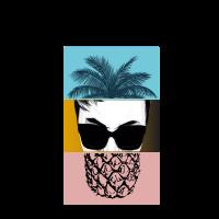 Pineapple Sunglasses Palm Head