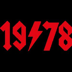 40 Lustiges Hardrock Geburtstagsgeschenk 1978