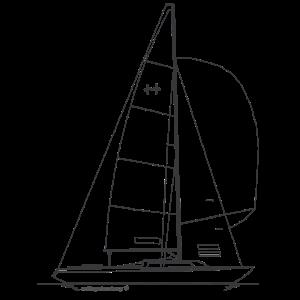 Grafik eines H Boot auf Shirts & Tassen