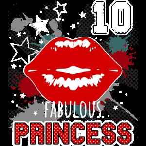 Fabelhafte 10 10. Geburtstag Kussmund