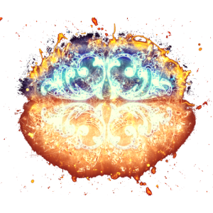 Dekor Schmuck brennend