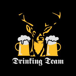 177 Hirsch Drinking Team Fluegel Bier Krone 3c