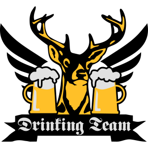 176 Toller Hirsch Drinking Team Flügel Bier Beer