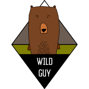 Wild Guy Bear Illustration