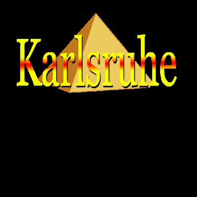 Karlsruhe Pyramide Gelb-Rot - Für alle die Karlsruhe lieben und dies auch der Welt zeigen möchten. Perfekt auch als Geschenkidee geeignet. - Karlsruher SC,Geschenkidee,KSC,Karlsruhe,Stadt,Pyramide,Karlsruh,deutschland,Baden-Württemberg,Geschenk,Baden,Gelb-Rot