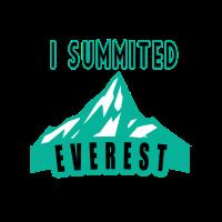 Mount Everest Gipfel Bergsteiger Geschenkidee