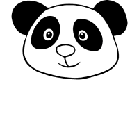 Pandakopf Geschenkidee