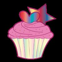 Muffin Törtchen mit Herz und Stern