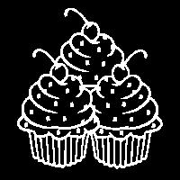 Cupcake Törtchen mit Kirsche