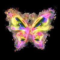 Irisierend chromatisch hell glühend
