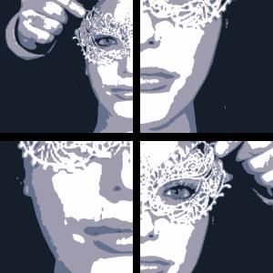fashion Frau mit Maske Shades of mask 2reborn