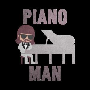 Pianist Piano Mann Klavier Spieler Geschenk Idee
