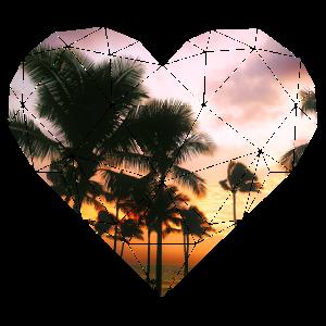 3D Herz Palmen