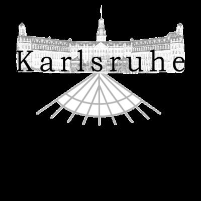 Karlsruhe - Schloss / Fächerstadt - Für alle die Karlsruhe lieben und dies auch der Welt zeigen möchten. Perfekt auch als Geschenkidee geeignet. - gebäude,Karlsruher SC,Adenauer,Schwarz-Weiß,Karlsruher,KSC,Schloss,Karlsruhe,stadtbild,metropole,Stadt,Meine Stadt,Stolz,Sehenswürdigkeiten,Deutschland,denkmal,Marktplatz,süddeutschland,Fächerstadt,schlösser,architektur,Baden-Württemberg,Baden