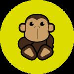 Apeby1 (Affe) Digitaldruck, Shimpanse