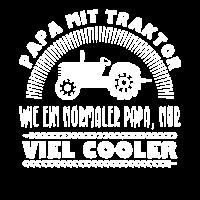 Papa mit Traktor