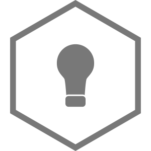 Hexagon / Gluebirne