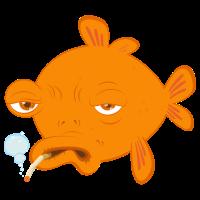 goldfisch raucht