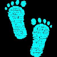 Füße, Barfuß, große Füße, Fußabdruck, Fußspuren
