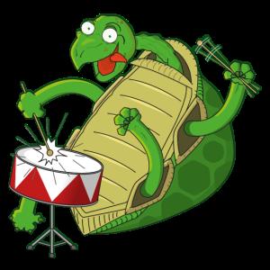 Schildkröte trommelt