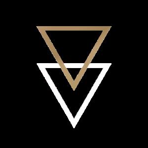 Dreiecke Gold Weiss Skandi