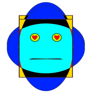 Roboter Kostüm Illustration Kunst Geschenk