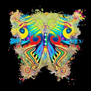 Schmetterling Vierzig hell glühend
