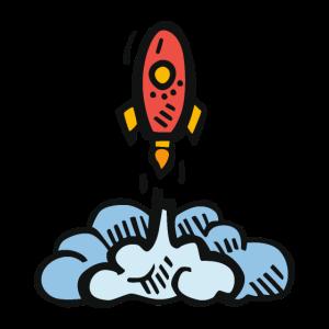 space Geschenk Raumschiff Comic Rakete