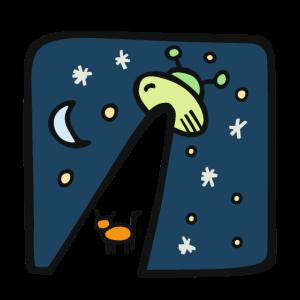 space Geschenk Raumschiff Comic Ufo